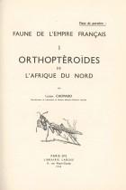 Orthoptèroïdes de l'Afrique du Nord