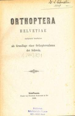 Orthoptera Helvetiae